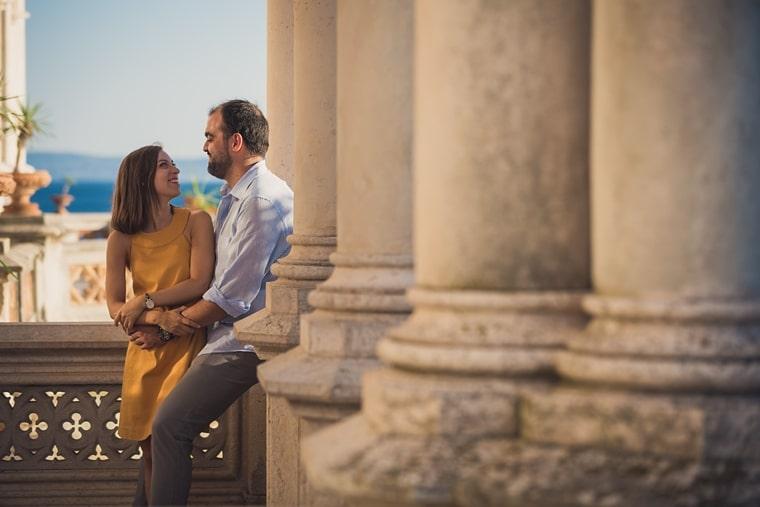 Chiara e Giacomo – Servizio fotografico fidanzati al castello di Miramare