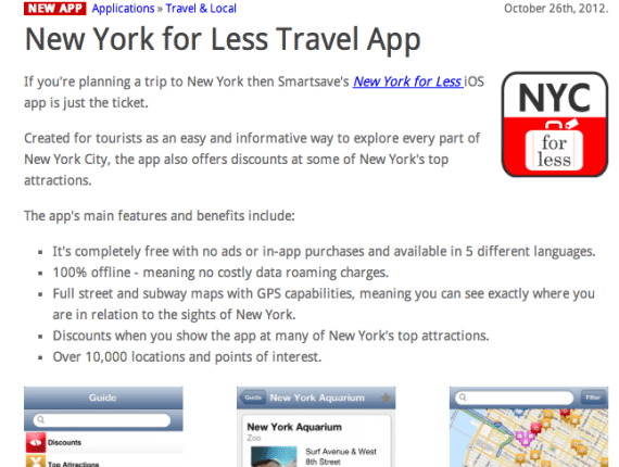 applications iPhone pour New York