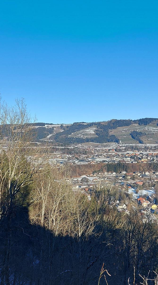 Ausblick über Scharnstein