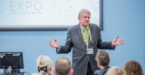 Lars Sundstrom speaking at the West of England Healthcare Innovation Expo 2018