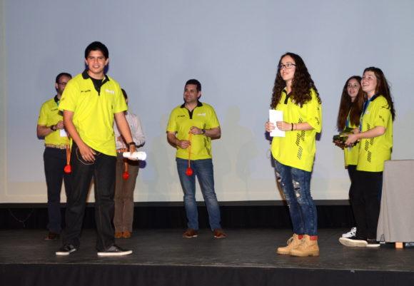 Carmen y Fernando durante la gala de presentación y entrega de premios de Hack in the School