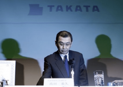 Takata CEO compensation more than halves last financial year: filing