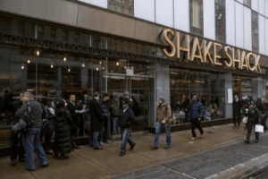 Shake Shack shares fall as early investors get chance to cash out