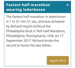 Fastest half marathon in lederhosen
