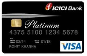 ICICI bank Instant Platinum credit card