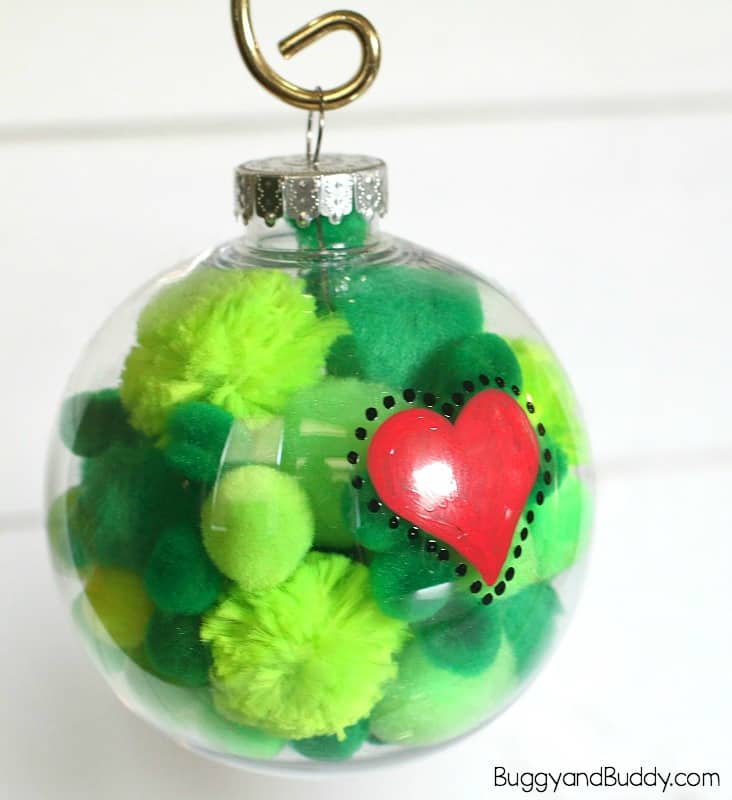 Grinch Heart Christmas Handicr
