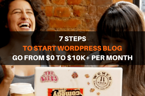 7 steps to start wordpress blog