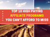 High paying affiliate program