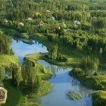 Озера Аматциемса летом