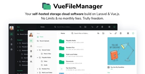 Vue File Manager 1.8.5 – Store, Share & Get Files Instantly