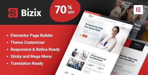 Bizix 2.0.0 - Corporate and Business WordPress Theme