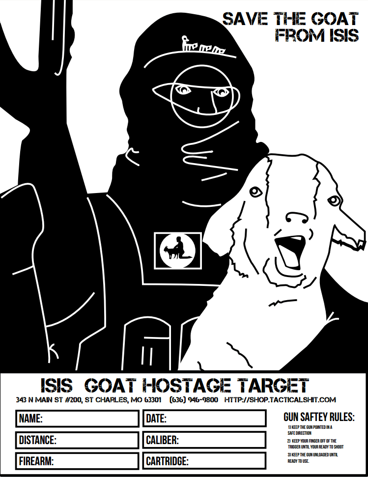 photograph regarding Printable Sniper Targets called ISIS Goat Hostage Focus The Weapon Site