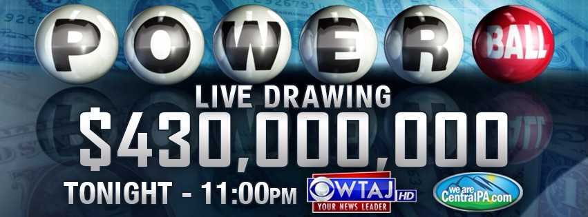 Powerball Jackpot Drawing Wednesday