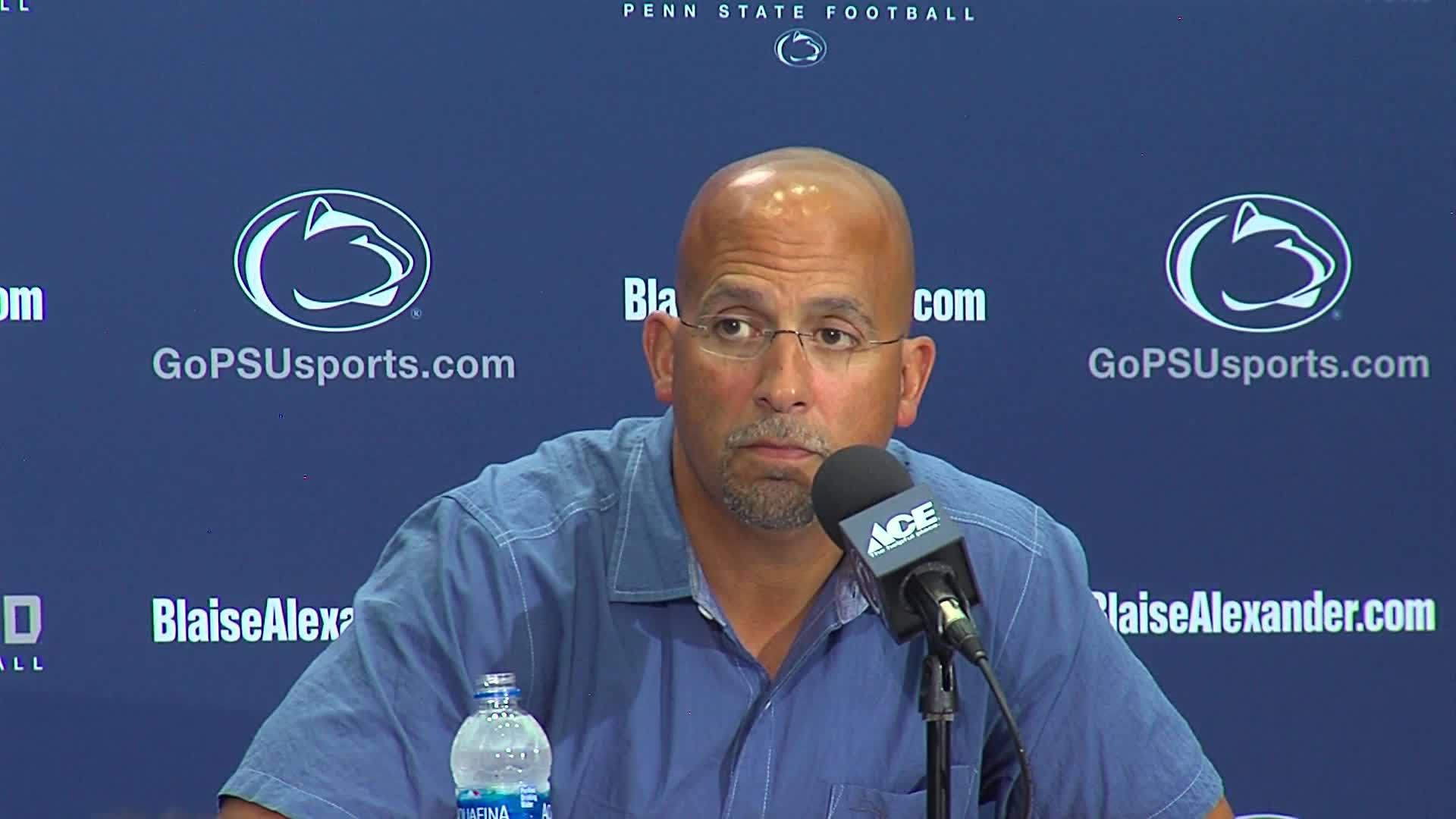 Penn State Coach Franklin Newser 8/28 Part 12