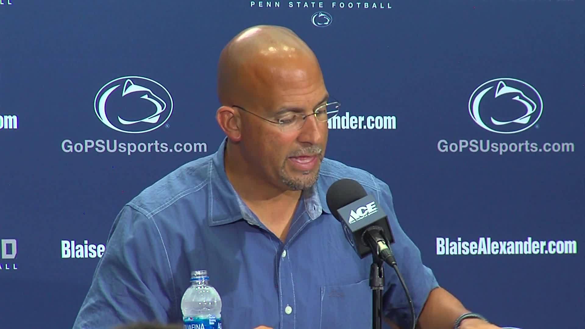 Penn State Coach Franklin Newser 8/28 Part 14