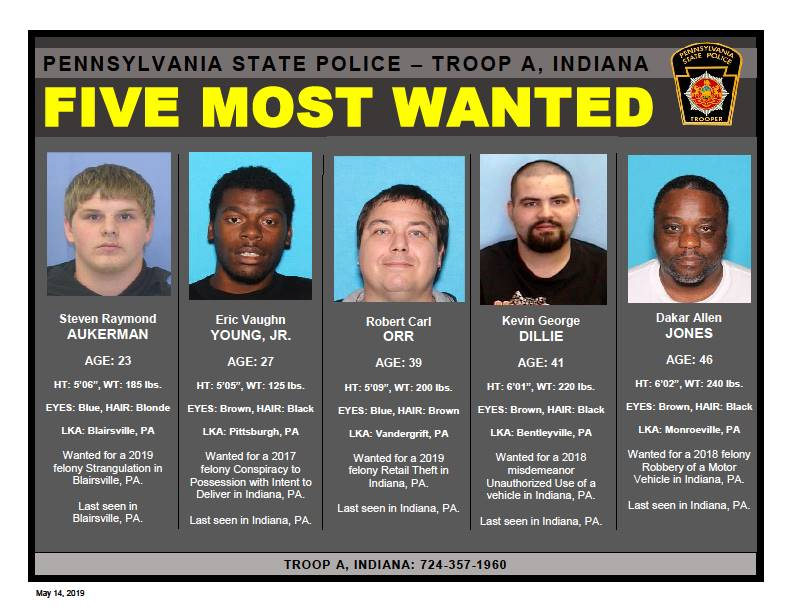 State Police, Troop A, Indiana looking for 5 most wanted_1557868759317.jpg.jpg