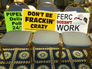 "The Delaware Riverkeeper Network and other groups hold a ""people's hearing"" in Washington, DC, to discuss FERC's review and approval process./Photo by Mark Hand"