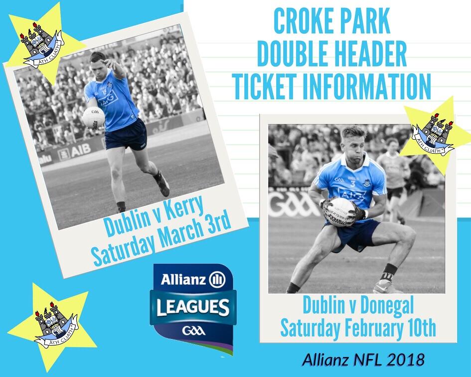 Poster Advertising Croke Park Double Header Ticket Information