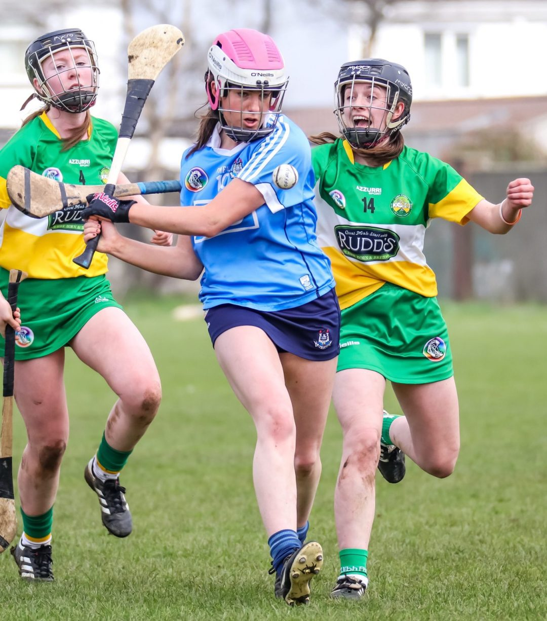 Action Shot From Dublin's U16A Camogie teams win over Offaly