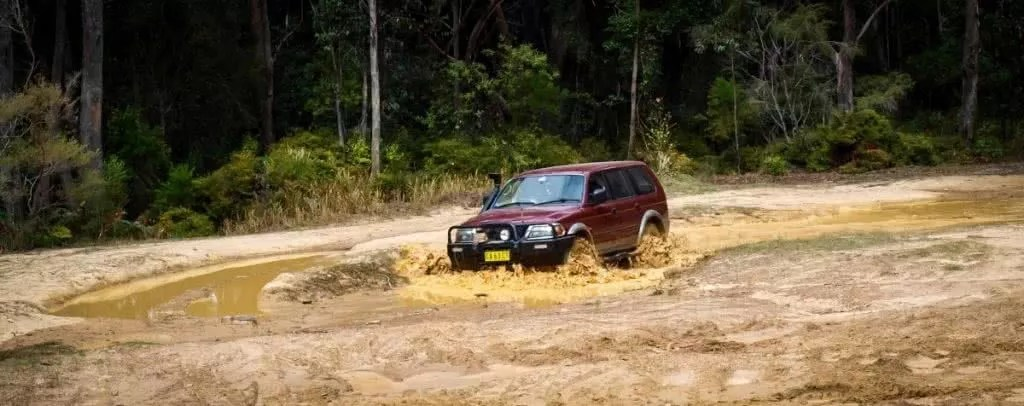 4x4 in puddle