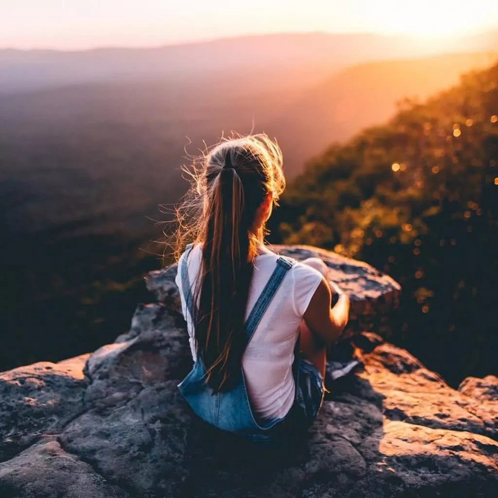 """Microadventures with @connorjvaughan 2/5 """"I'll be honest, I didn't even know this girl. I was shooting sunset at The Balconies and I saw her out the corner of my eye. I knew she would have been perfect for the shot I had in mind. Carpe diem, right?"""" #weareexplorers"""