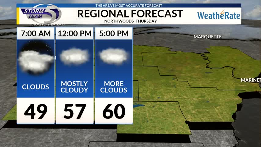 Regional Forecast Northwoods 10/12/2017