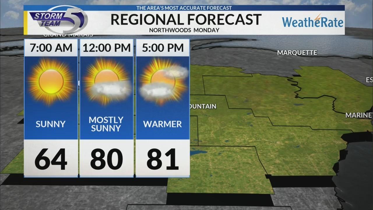 Regional Forecast: Northwoods 7/23