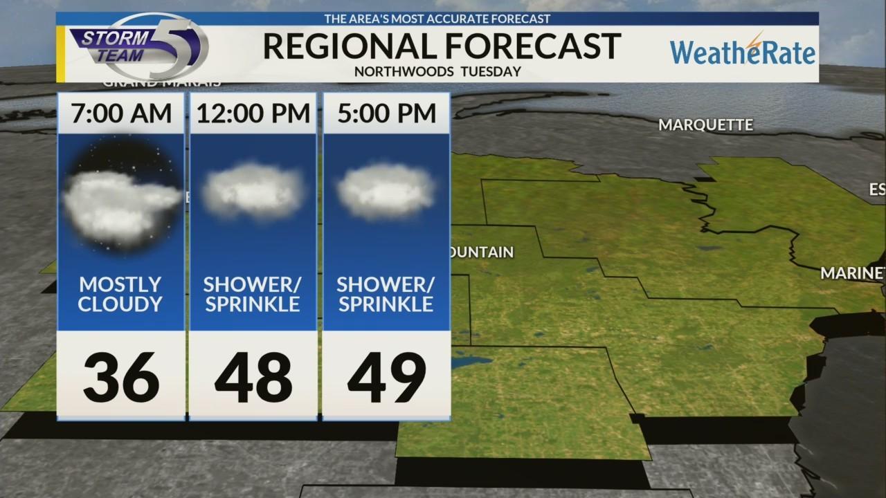 Regional Forecast: Northwoods 10/30