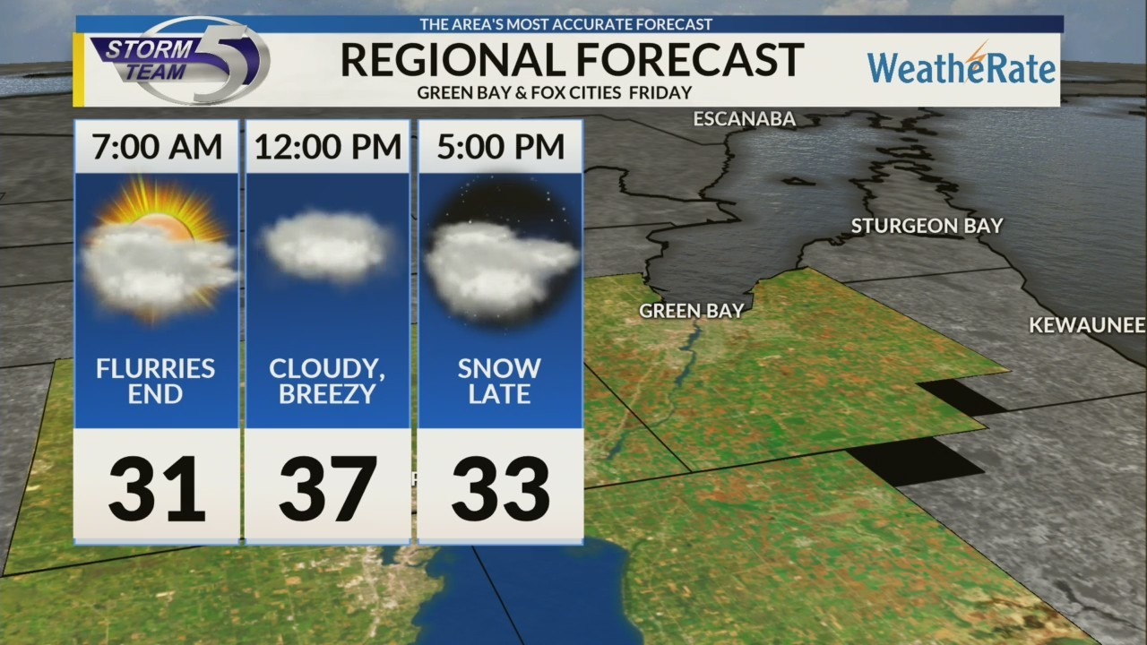 Regional Forecast: Green Bay and the Fox Cities 11/16