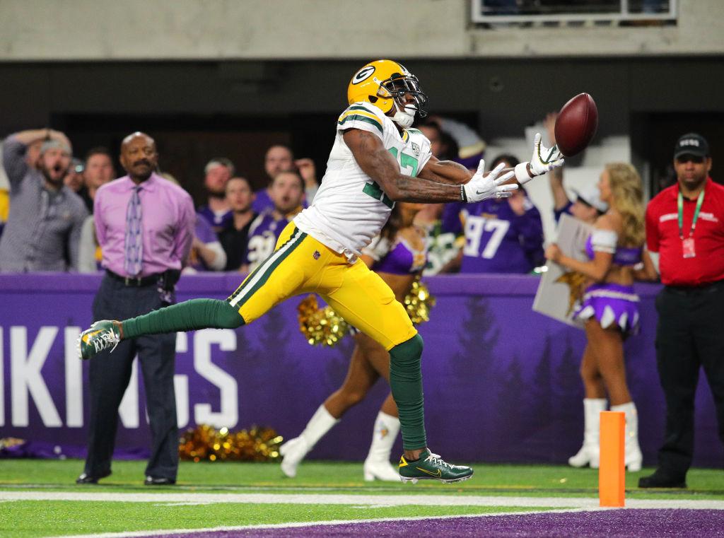 Packers Davante Adams at Vikings 2018