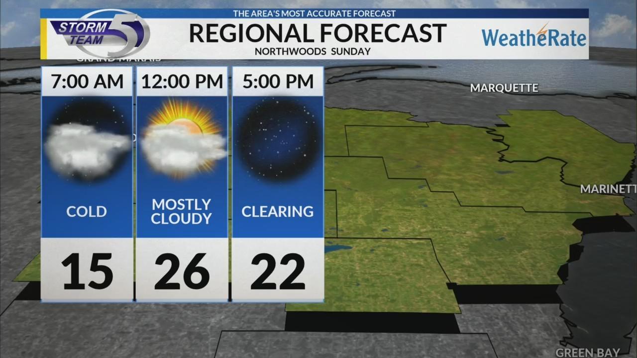 Regional Forecast: Northwoods 1/13/2019