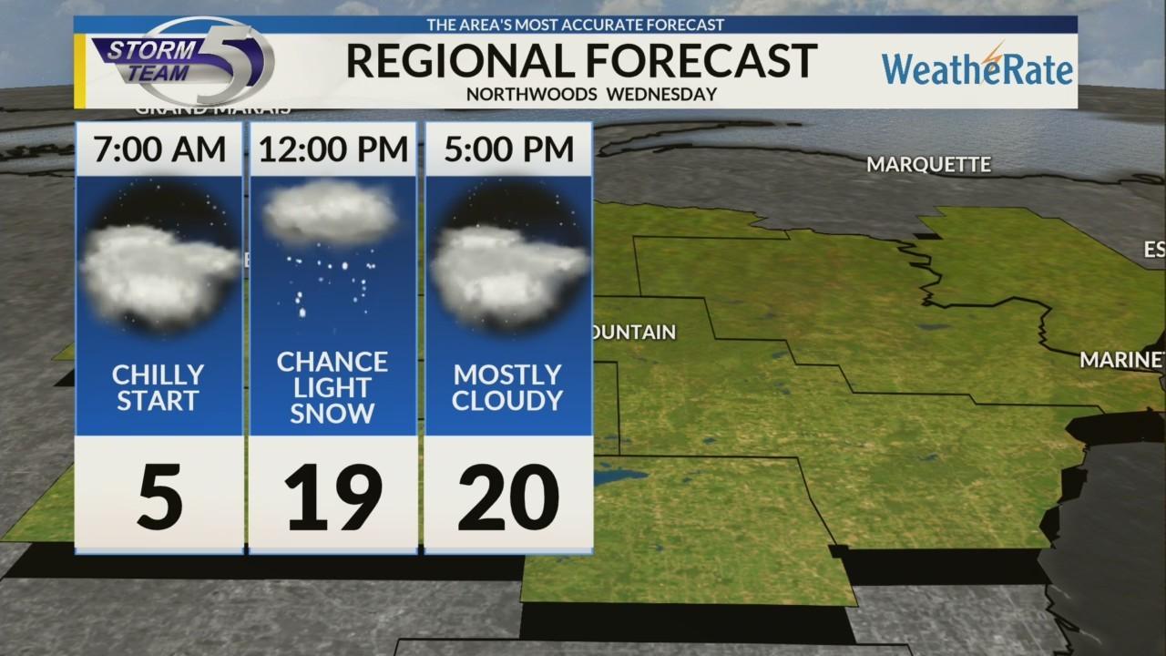 Regional Forecast: Northwoods 1/2