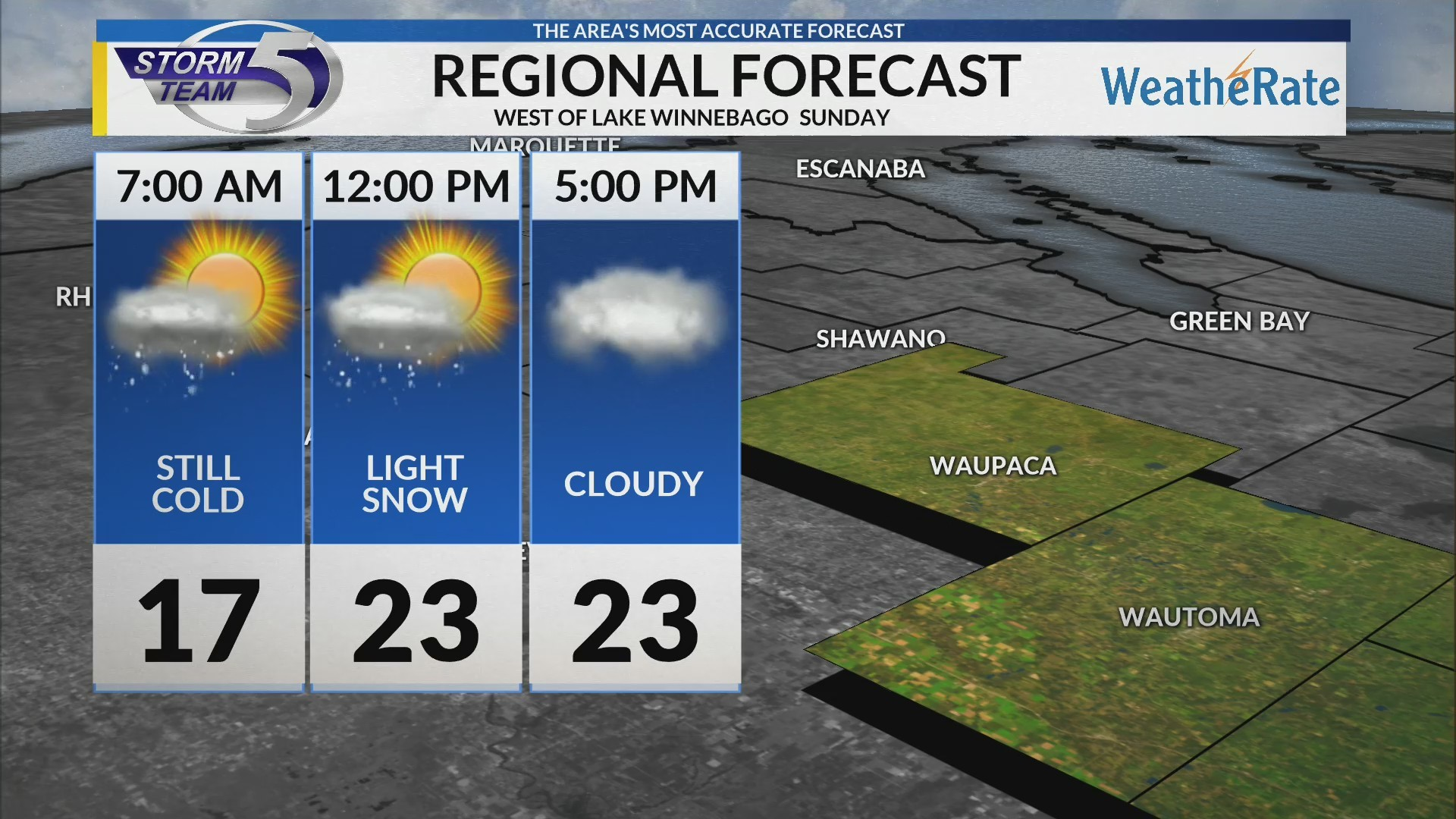 Regional Forecast: Central WI 2/17/2019