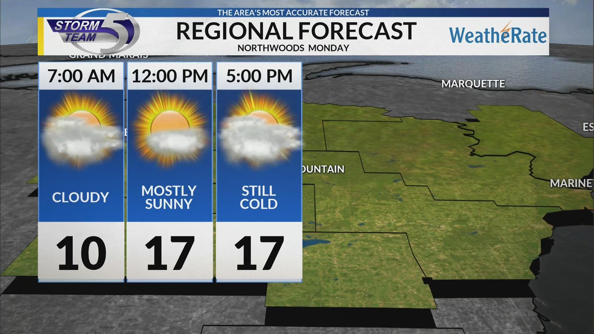 Regional Forecast: Northwoods 2-18