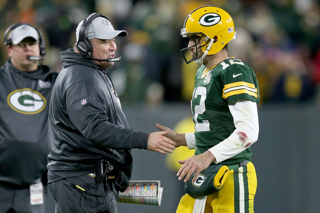 Packers Aaron Rodgers and Mike McCarthy