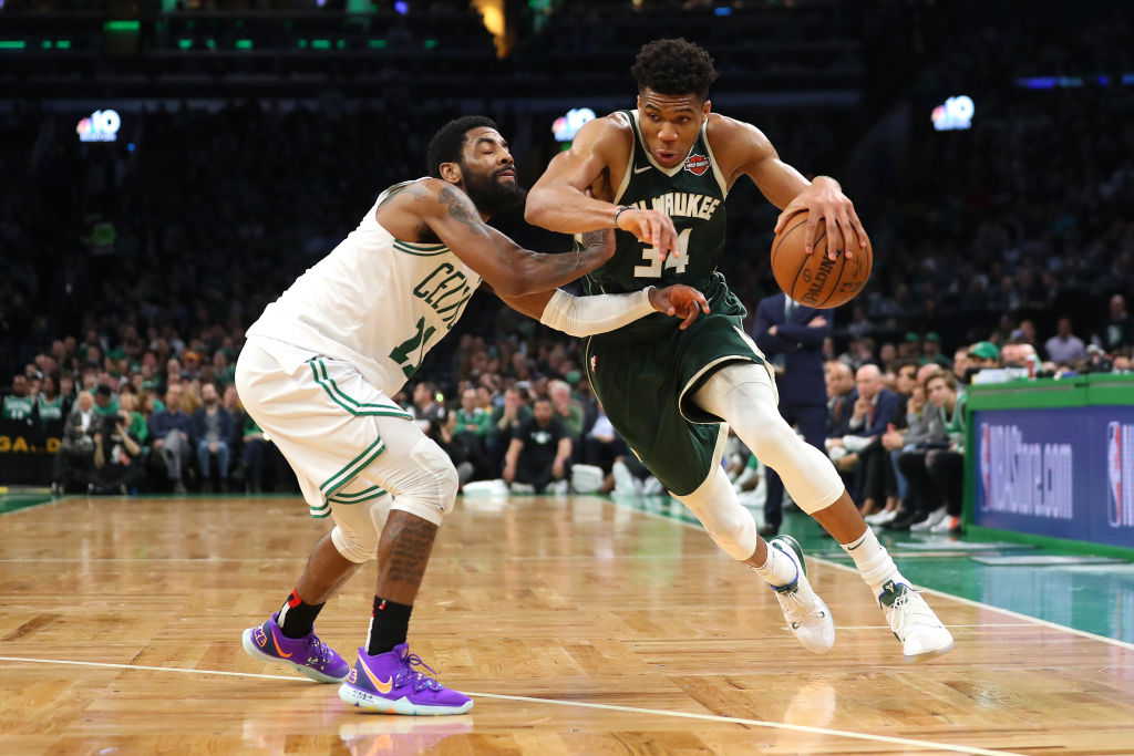 Giannis leads Bucks past Celtics in game three