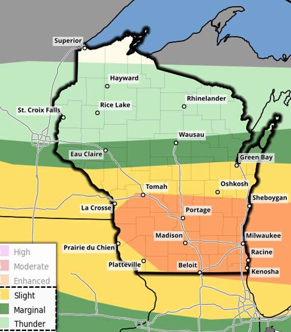 Severe weather throughout Northeast Wisconsin