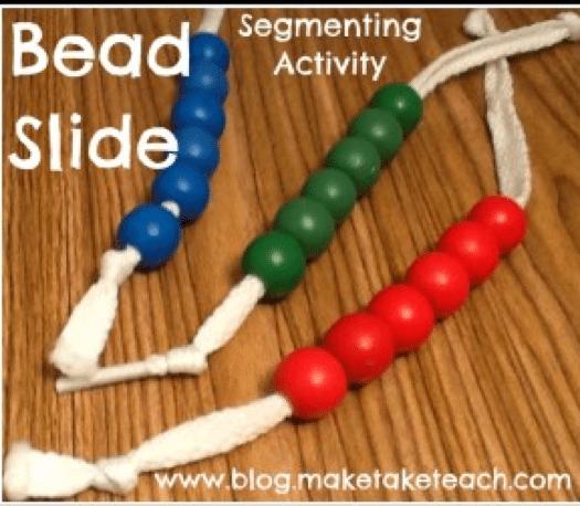 bead slide reading activity