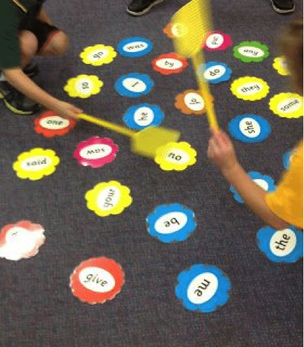 Keep your kids moving with an active sighword game