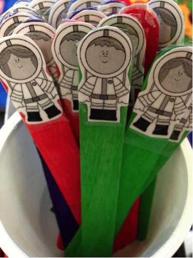 use spacemen to teach beginning writers about spaces between words