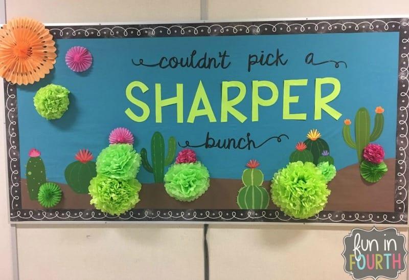 Classroom Decoration Cactus ~ Back to school bulletin board ideas from creative teachers