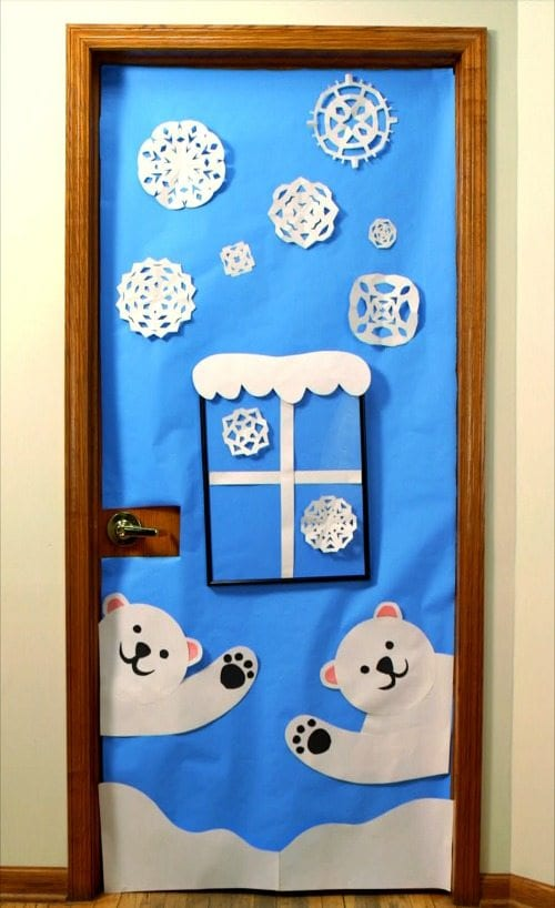 Amazing classroom doors for winter and the holidays for Porte natalizie scuola