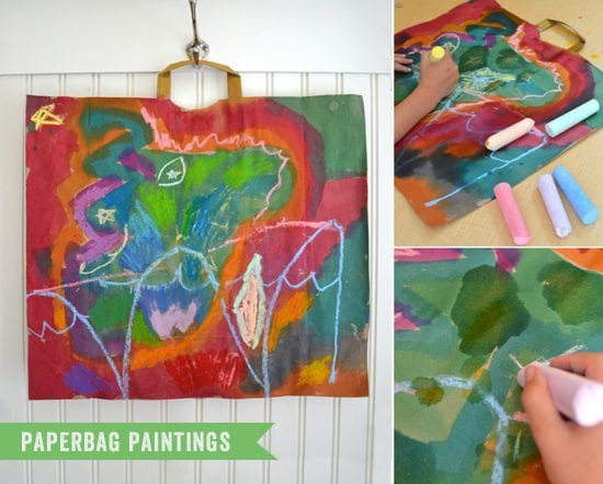 paper bag painting craft