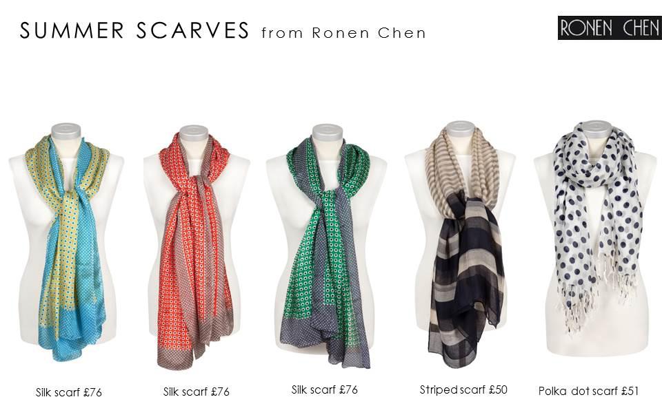 summer scarves from ronen chen wearethecity