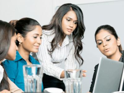 women in business looking