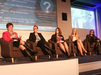 Q&A panel featuring Michelle Moody, Abigail Wilson, Stephanie Daman, Deborah O'Neill and Dr Sue Black