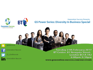 GS Power: Diversity in Business Special @ England | United Kingdom