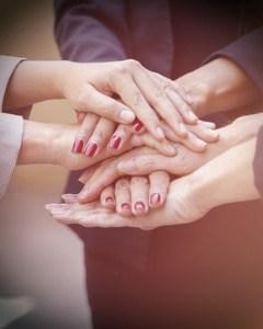 our girls, women's hands featured