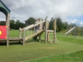 Kyler on the climbing frame