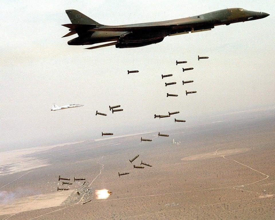 B-1B Lancer cluster munitions